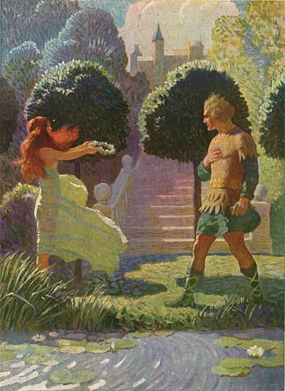 "Gratuitous illustration from N.C. Wyeth's ""The Legends of Charlemagne."""